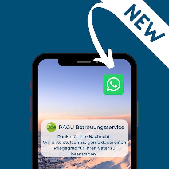 Pagu Betreuungsservice jetzt auch bei WhatsApp!